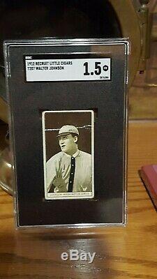 1912 Recruit T207 Walter Johnson Little Cigars Sgc 1.5 Hall Of Fame Baseball Vin