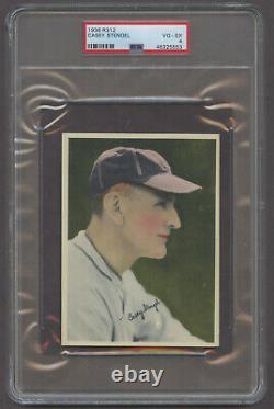 1936 R312 Casey Stengel Brooklyn Dodgers Hall-of-Fame PSA 4 VG/EX