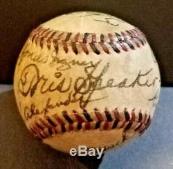 1939 CENTENNIAL Baseball Hall Of Fame Induction First Members Signed Baseball
