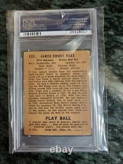 1940 Play Ball #133 Jimmie Foxx jimmy GRADED VG PSA 3 HOF HALL OF FAME