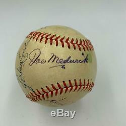 1940's Rogers Hornsby Hank Greenberg Hall Of Fame Multi Signed Baseball JSA COA