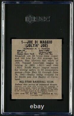 1948 49 Leaf #1 Joe Dimaggio Vintage Hall Of Fame New York Yankees Vg Sgc 3