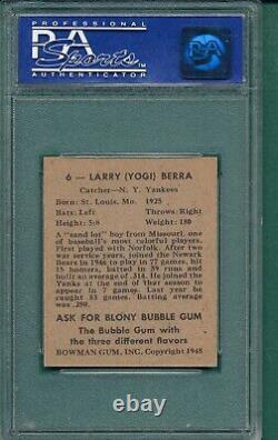 1948 Bowman #6 Yogi Berra Rookie New York Yankees Hall-of-Fame PSA 7 NM