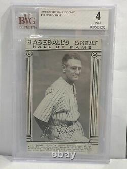 1948 Exhibit Hall of Fame Baseball's Great #12 Lou Gehrig NY Yankees BVG 4