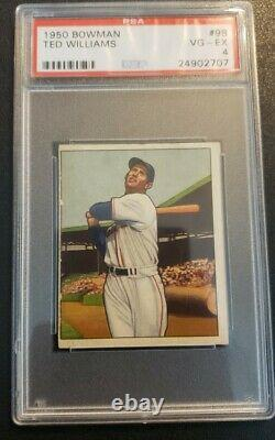 1950 BOWMAN #98 TED WILLIAMS PSA 4 Hall of Fame Boston Red Sox HOT