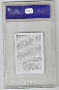 1950 Callahan Hall Of Fame Babe Ruth PSA 8 NM-MT