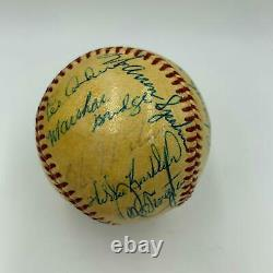 1950's Willie Mays Duke Snider Hall Of Fame Multi Signed Baseball With JSA COA