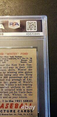 1951 BOWMAN #1 WHITEY FORD ROOKIE PSA 2 Hall of Fame