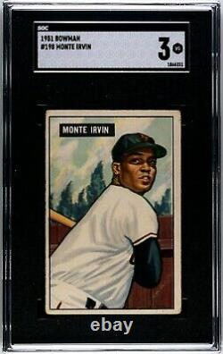 1951 Bowman Monte Irvin #198 (Hall of Fame) SGC 3 Rookie RC