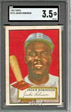 1952 Topps Jackie Robinson #312 Sgc 3.5 Vg+ Hall Of Fame