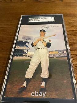 1953-55 Dormand Mickey Mantle SGC 5 Postcard #111 New York Yankee Hall Of Fame