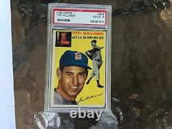 1954 Topps #250 Ted Williams PSA 4 VG-EX Vintage Baseball Red Sox Hall Of Fame