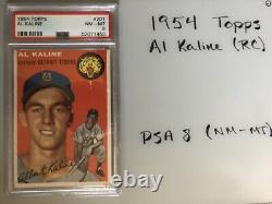 1954 Topps Al Kaline (RC) #201 PSA-8 Hall Of Fame Detroit Tigers Baseball Card