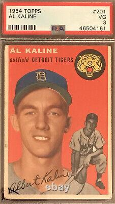 1954 Topps Al Kaline Rookie RC PSA 3 Very Good Hall Of Fame Mister Tiger