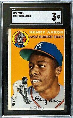 1954 Topps Hank Aaron #128 Sgc 3 (hall Of Fame)