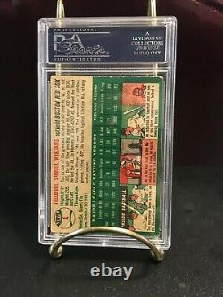 1954 Topps Ted Williams card #1 Boston Red Sox PSA 2 Good HOF Hall of Fame