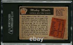 1955 Bowman #202 Mickey Mantle Vintage Hall Of Fame New York Yankees Vg Sgc 3