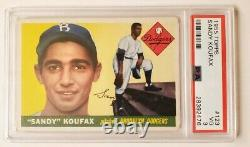 1955 Topps Sandy Koufax #123 PSA DNA VG 3 Vintage Dodgers Hall of Fame Non Auto