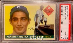 1955 Topps Sandy Koufax #123 PSA VG-EX 4 Dodgers Hall of Fame Cy Young RC