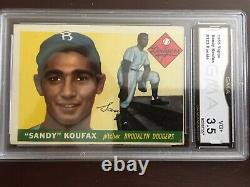 1955 Topps Sandy Koufax #123 Rookie Hall of Fame Great GMA 3.5 (VG)