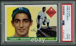 1955 Topps Sandy Koufax Rookie card PSA 2, Good. Iconic HALL OF FAME ROOKIE