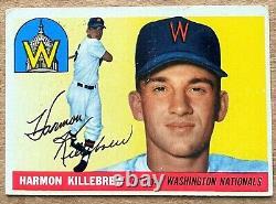 1955 Washington Senators Harmon Killebrew #124 Rookie Card Vg+ Hall Of Fame