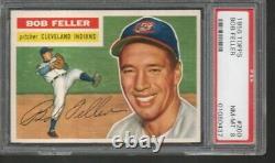 1956 Topps #200 Bob Feller, Hall of Fame, Indians, PSA 8