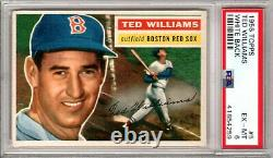 1956 Topps #5 Ted Williams PSA 6 Hall of Fame Boston Red Sox