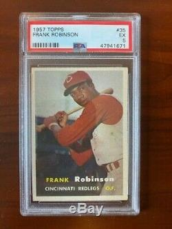 1957 Topps Frank Robinson Cincinnati Reds #35 Rookie. PSA 5 EX! Hall of fame