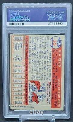 1957 Topps Frank Robinson Rookie Card #35 Hall Of Fame Reds Hof Rc Psa 6 Ex-mt