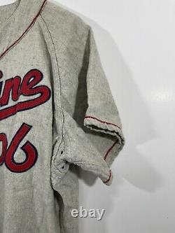 1959 Rawlings Hall of Fame Flannel Jersey Alpine Cowboys Baseball Don Schwall