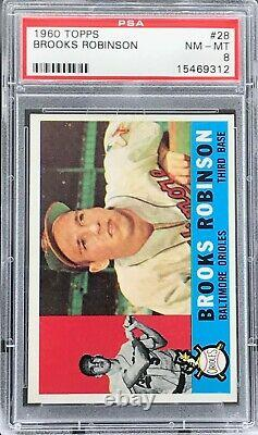 1960 Topps #28 Brooks Robinson PSA 8 NM-MT Baltimore Orioles HALL OF FAME