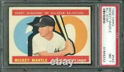 1960 Topps #563 Mickey Mantle All-star Hall Of Fame New York Yankees Psa 7