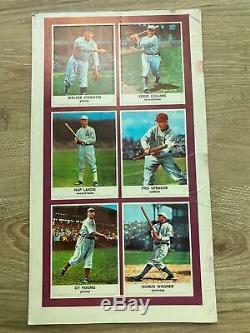 1961 Golden Press Hall of Fame Baseball Cards in Book NRMT