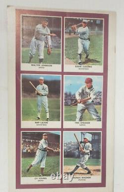 1961 Golden Press Hall of Fame Baseball Complete Original Set in Book