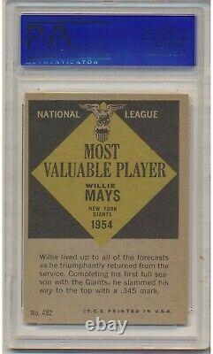 1961 Topps Willie Mays #482 (Hall of Fame) PSA NM 7 San Francisco Giants