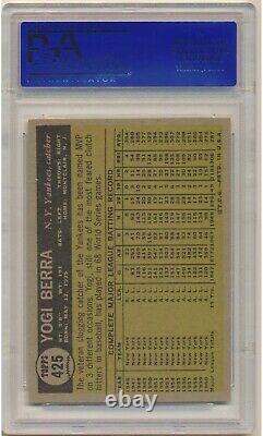 1961 Topps Yogi Berra #425 (Hall of Fame) PSA NM 7 New York Yankees