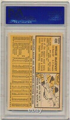 1963 Topps Willie McCovey #490 (Hall of Fame) PSA NM 7 S. F. Giants