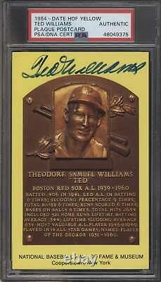 1964 Hall of Fame Plaque #NNO Ted Williams HOF PSA Auto Autographed 64570