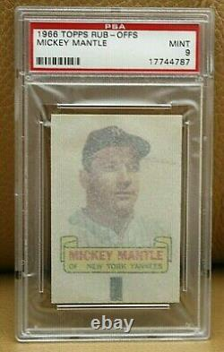 1966 TOPPS Mickey Mantle Rub-Offs PSA 9. New York Yankees Hall of Fame Beautiful
