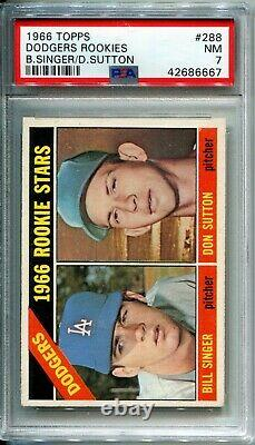 1966 Topps Don Sutton PSA 7 #288 HOF RC Hall of Fame Rookie