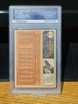 1966 Topps Sandy Koufax 100 Psa 7 Nm Dodgers Hall Of Fame Pitcher
