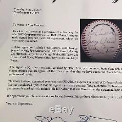 1967 Hall Of Fame Induction Day Signed Baseball Lefty Grove Ford Frick PSA DNA