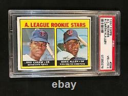 1967 Topps #569, Rod Carew, Minnesota Twins, Hall Of Fame, Rookie Card, Psa 4