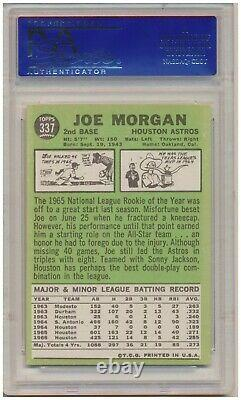 1967 Topps Joe Morgan #337 (Hall of Fame) PSA NM-MT 8 Houston Astros