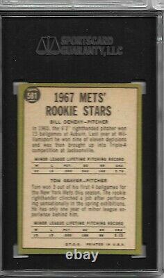 1967 Topps Tom Seaver #581 Rookie Card, Hi Number Sgc 5 Ex Hall Of Fame