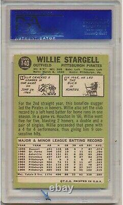 1967 Topps Willie Stargell #140 (Hall of Fame) PSA NM-MT 8 Pittsburg Pirates
