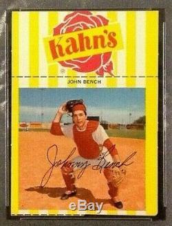 1968 Kahn's Johnny Bench Hall of Fame Rookie PSA 8 NM-MT