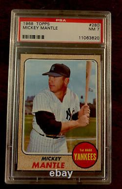 1968 PSA 7 MICKEY MANTLE #280 Hall Of Fame New York Yankees