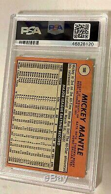 1969 Topps #500 Mickey Mantle Yellow Last Name PSA 3 VG Hall of Fame NY Yankees